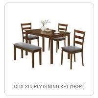 COS-SIMPLY DINING SET (1+3+1)